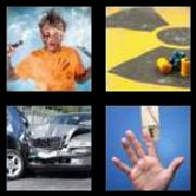4 Pics 1 Word 8 Letters Answers Accident