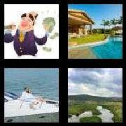 4 Pics 1 Word 8 Letters Answers Affluent