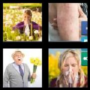 4 Pics 1 Word 8 Letters Answers Allergic