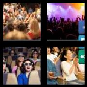 4 Pics 1 Word 8 Letters Answers Audience