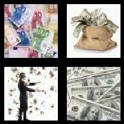 4 Pics 1 Word 8 Letters Answers Banknote
