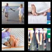 4 Pics 1 Word 8 Letters Answers Barefoot