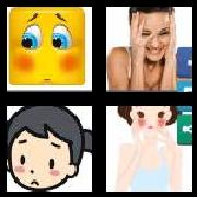 4 Pics 1 Word 8 Letters Answers Blushing