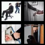 4 Pics 1 Word 8 Letters Answers Burglary