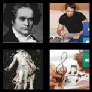 4 Pics 1 Word 8 Letters Answers Composer