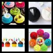 4 Pics 1 Word 8 Letters Answers Cupcakes
