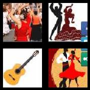 4 Pics 1 Word 8 Letters Answers Flamenco
