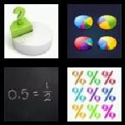 4 Pics 1 Word 8 Letters Answers Fraction