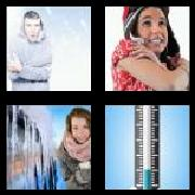 4 Pics 1 Word 8 Letters Answers Freezing