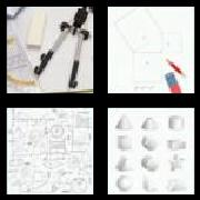 4 Pics 1 Word 8 Letters Answers Geometry