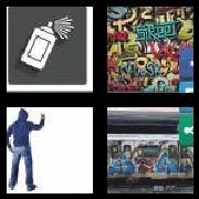 4 Pics 1 Word 8 Letters Answers Graffiti