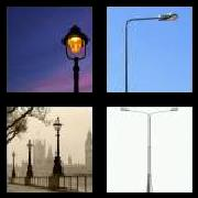 4 Pics 1 Word 8 Letters Answers Lamppost