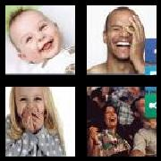 4 Pics 1 Word 8 Letters Answers Laughing