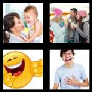 4 Pics 1 Word 8 Letters Answers Laughter