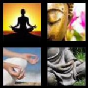 4 Pics 1 Word 8 Letters Answers Meditate