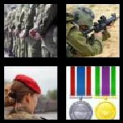 4 Pics 1 Word 8 Letters Answers Military
