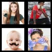 4 Pics 1 Word 8 Letters Answers Mustache