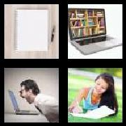 4 Pics 1 Word 8 Letters Answers Notebook