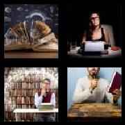 4 Pics 1 Word 8 Letters Answers Novelist