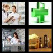 4 Pics 1 Word 8 Letters Answers Pharmacy