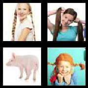 4 Pics 1 Word 8 Letters Answers Pigtails