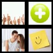 4 Pics 1 Word 8 Letters Answers Positive