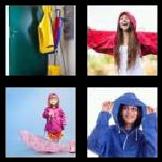 4 Pics 1 Word 8 Letters Answers Raincoat