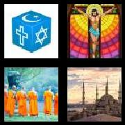 4 Pics 1 Word 8 Letters Answers Religion