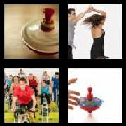 4 Pics 1 Word 8 Letters Answers Spinning