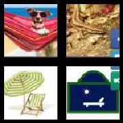 4 Pics 1 Word 8 Letters Answers Sunbathe