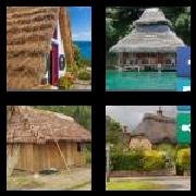 4 Pics 1 Word 8 Letters Answers Thatched