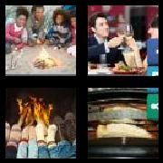4 Pics 1 Word 8 Letters Answers Toasting