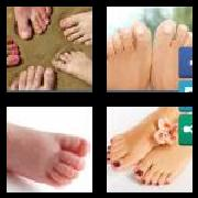 4 Pics 1 Word 8 Letters Answers Toenails