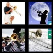 4 Pics 1 Word 8 Letters Answers Trombone
