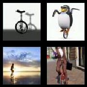 4 Pics 1 Word 8 Letters Answers Unicycle